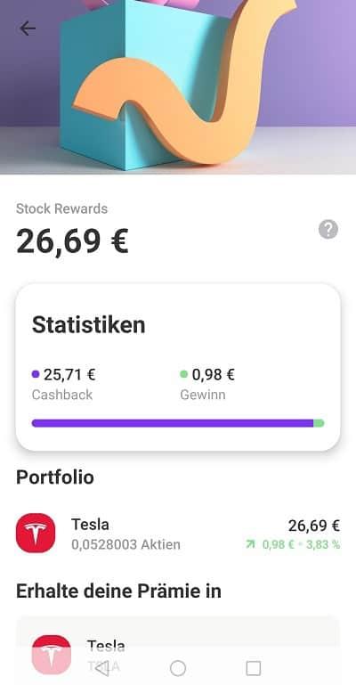 Vivid Money Pockets Stock Rewards Tesla
