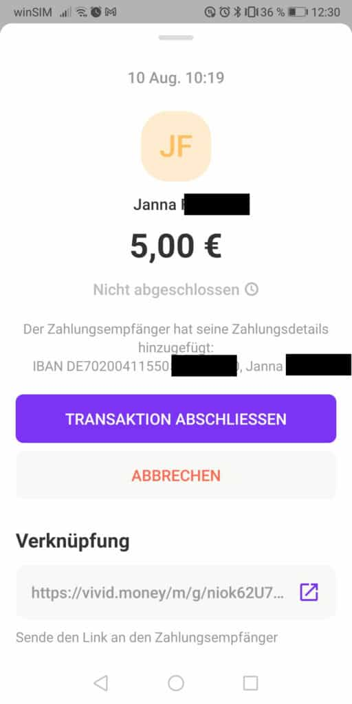 vivid-money-geld-an-freunde-senden